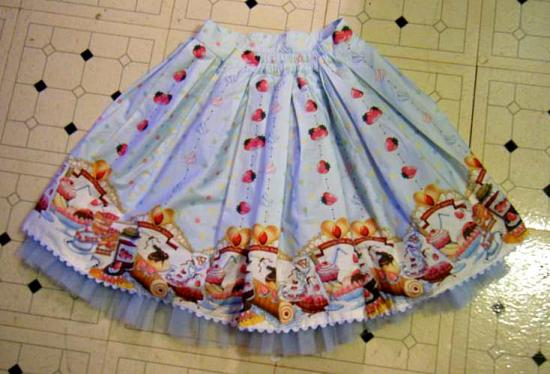 Strawberry Cream skirt, back