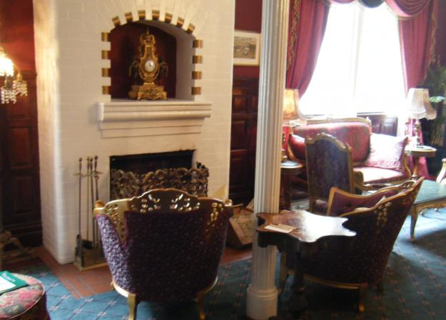 A small portion of the lobby